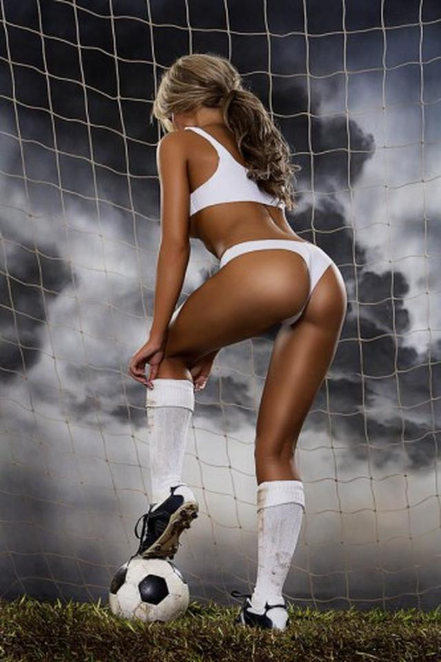 Hot naked women playing soccer