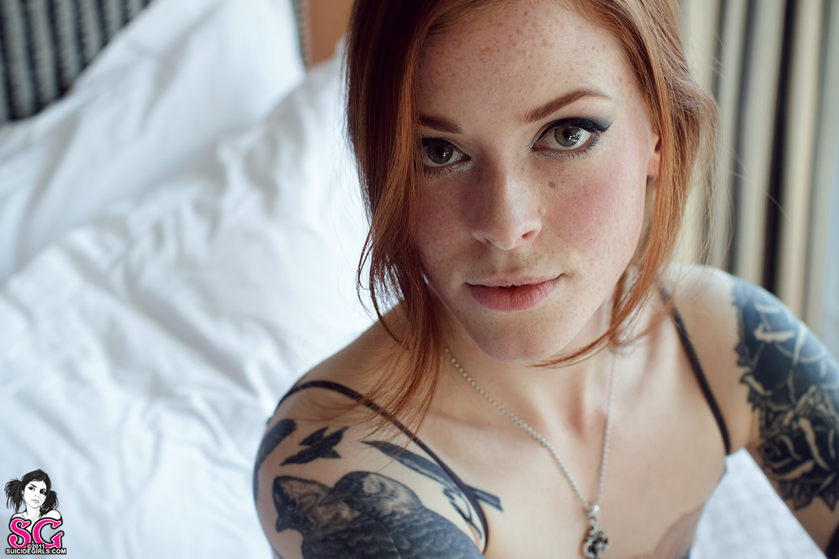 image Redhead freckles girl loves big cock