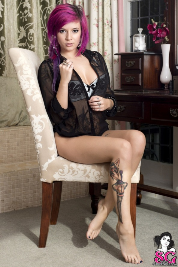 Katherine in Expectations for Suicide Girls