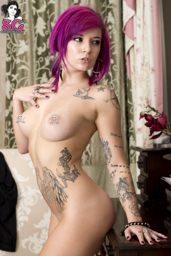 Katherine in Expectations for Suicide Girls10